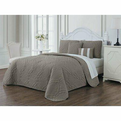 nolie 9 piece quilt set by taupe