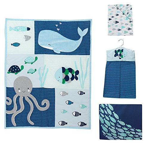 Lambs & Ivy Oceania Aqua/Blue Crib