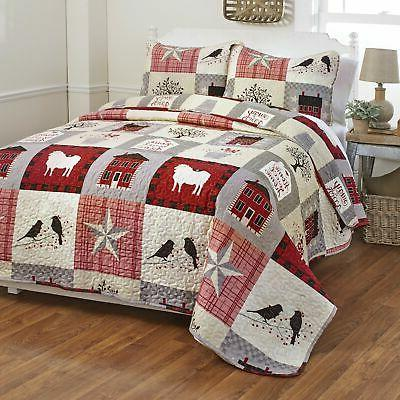 Oversized Homestead Quilt Set Set of 3