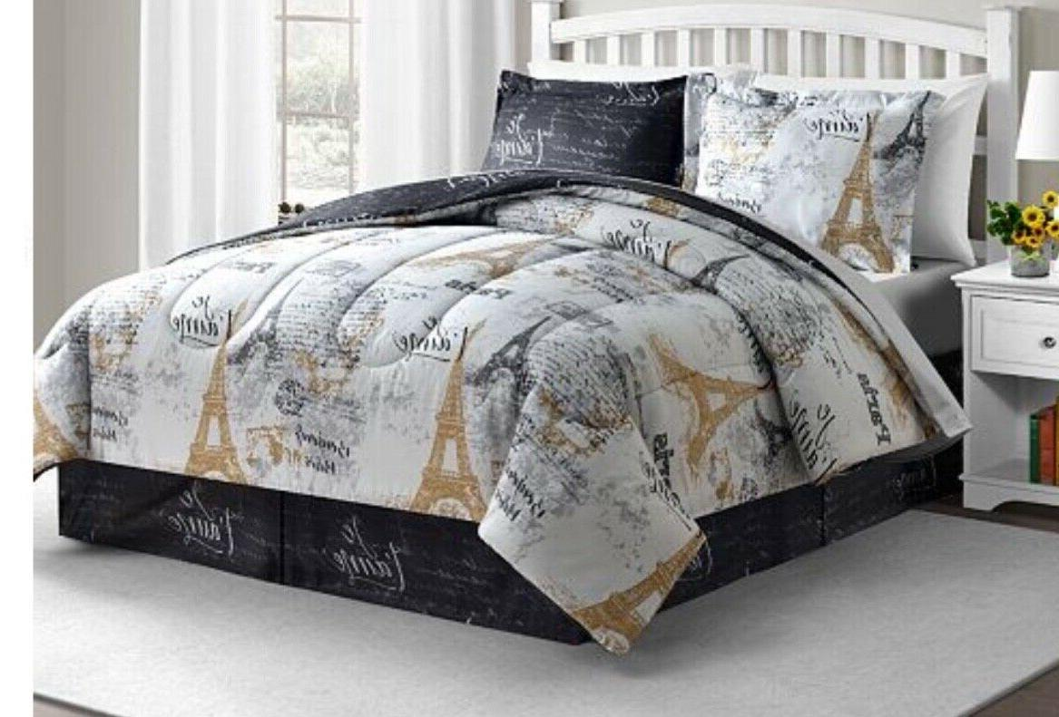 paris gold 6 pc reversible comforter set