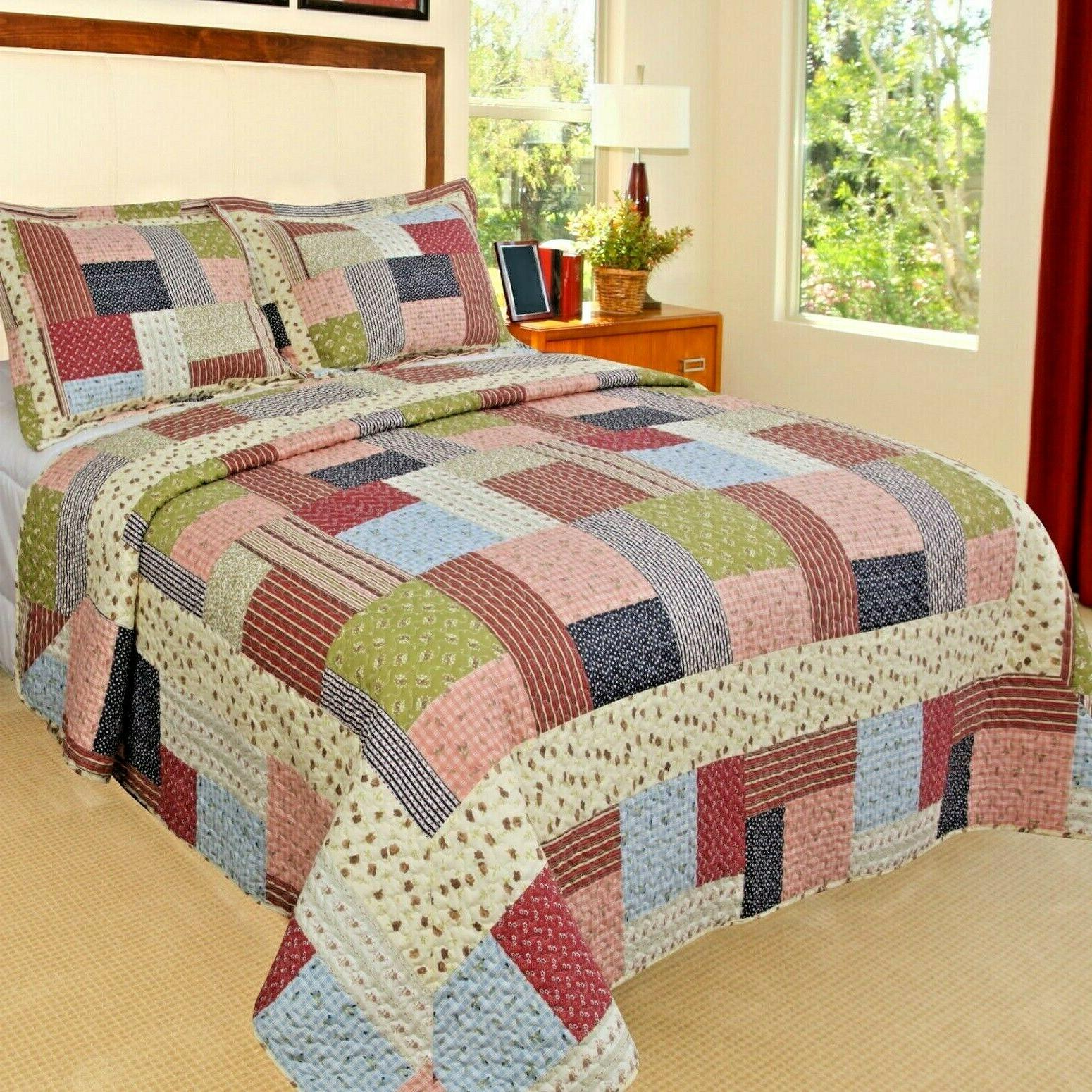 patchwork bed cover reversible quilted comforter home