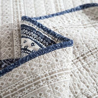 Patchwork Bedspread Denim Blue Cotton Bright