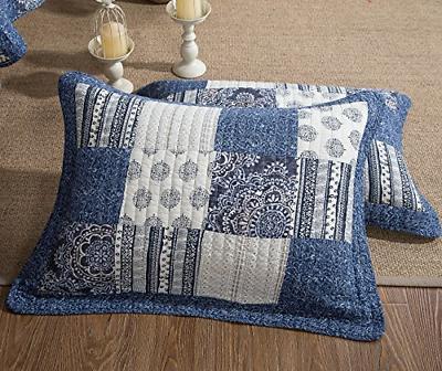Patchwork Denim Blue Elegance Cotton Bright