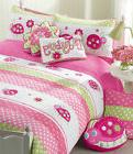Cozy Line Home Fashion Pink Ladybug Cotton 3 Piece Quilt/Cov