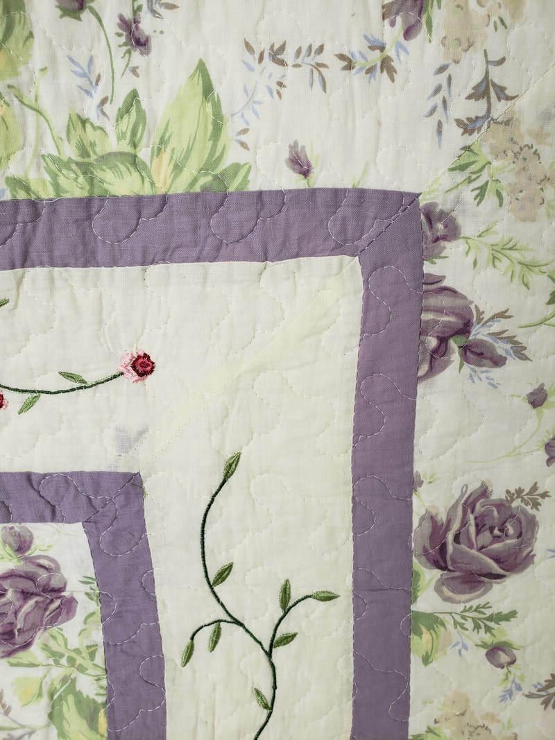 Plum Purple Throw Blanket American Hometex Floral