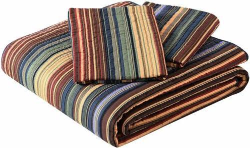 Pre-Washed 100% Set Reversible Bedspread Coverlet