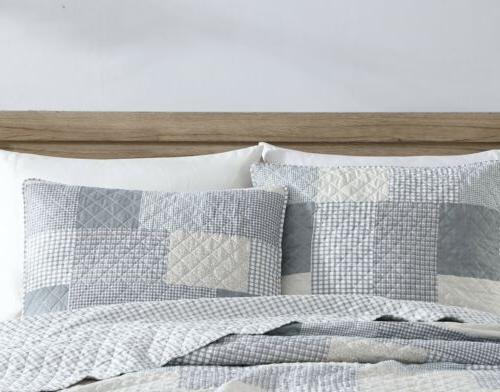 Chezmoi Pre-Washed Set , Plaid Bedspread Coverlet