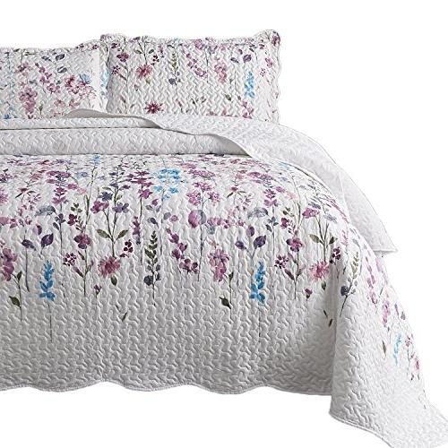 printed quilt coverlet set queen