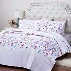 """Bedsure Printed Quilt Coverlet Set Twin 68""""x86"""" Lilac Floral"""