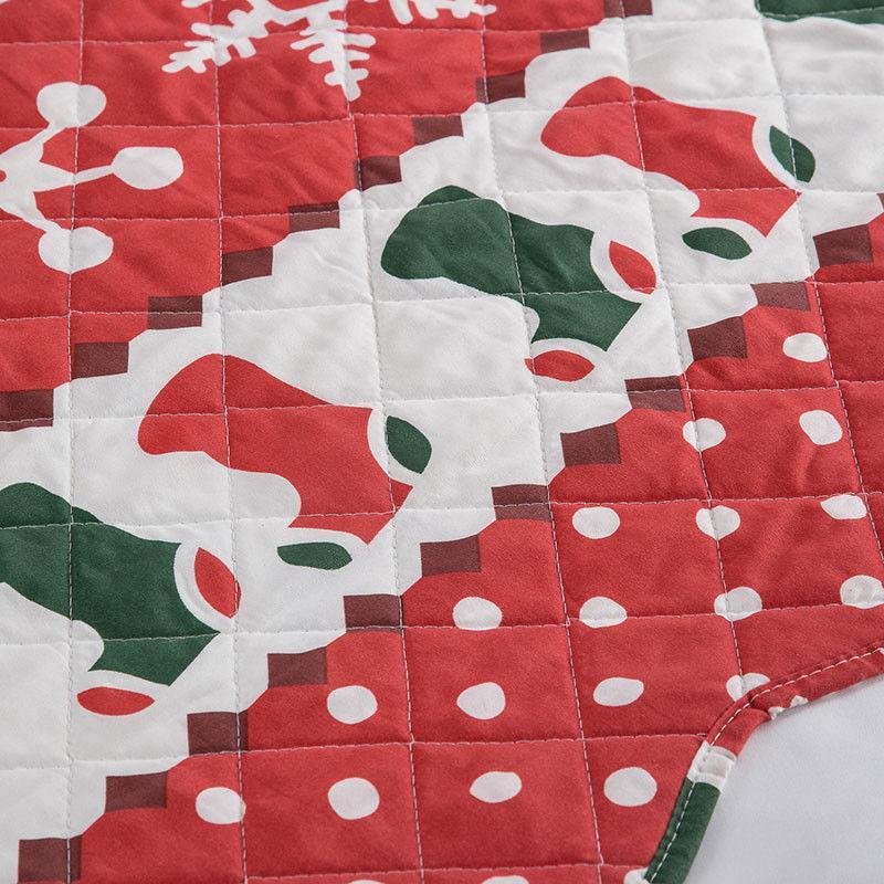 Bedsure Set Bedspread Christmas Pattern Microfiber Bedding