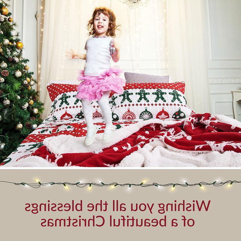 Bedsure Printed Quilt Bedspread Bedding Set