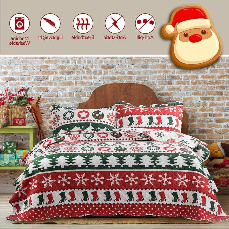 Bedsure Set Bedspread Christmas Bedding