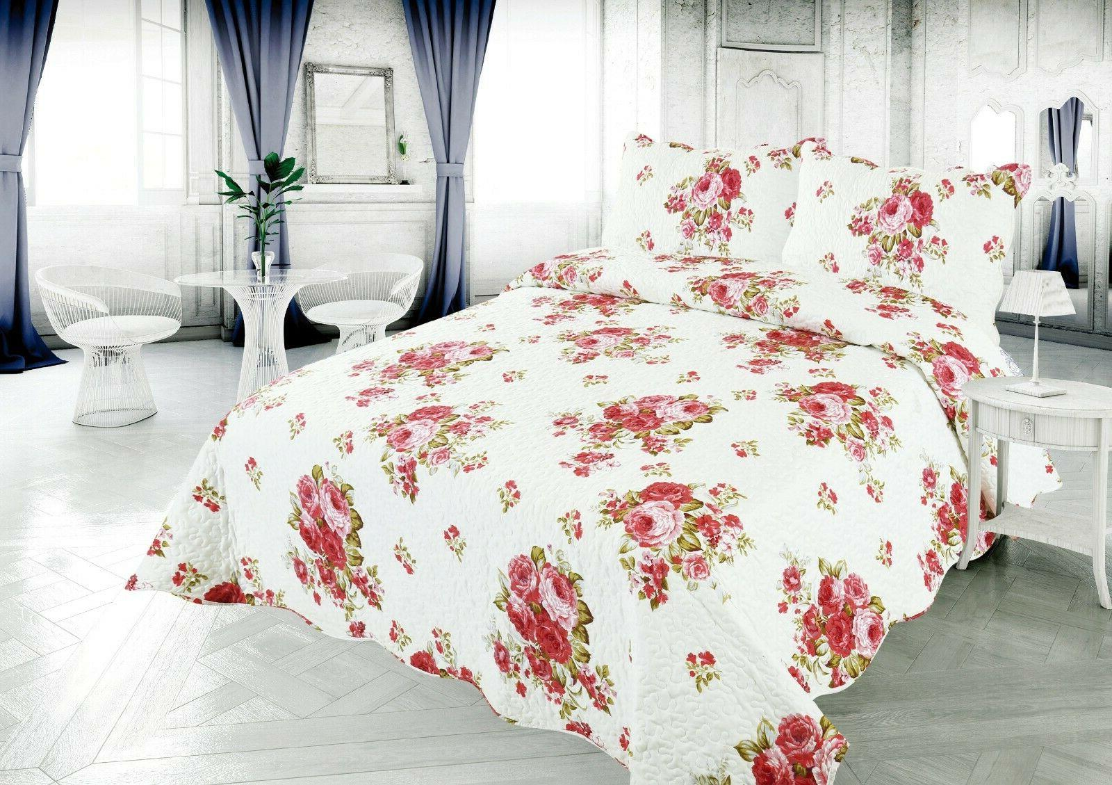 Printed Bedding Comfort Coverlet Piece Quilt
