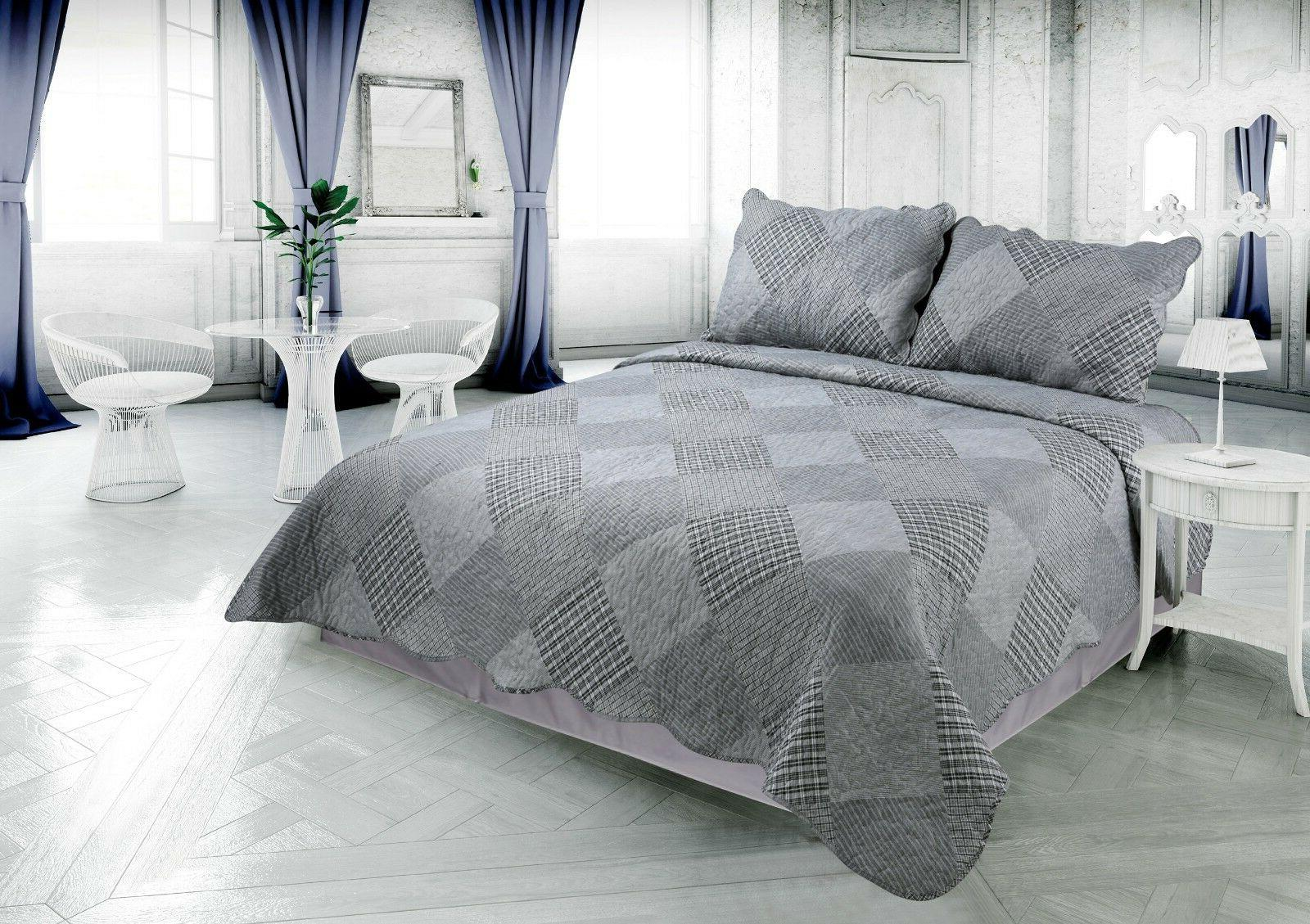 printed reversible soft bedding comfort bedspread coverlet