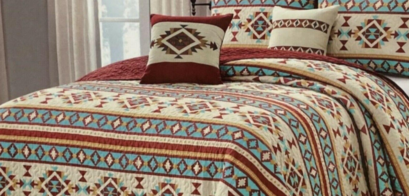 Quilt 3, 5 Reversible Bedspread Queen Gift