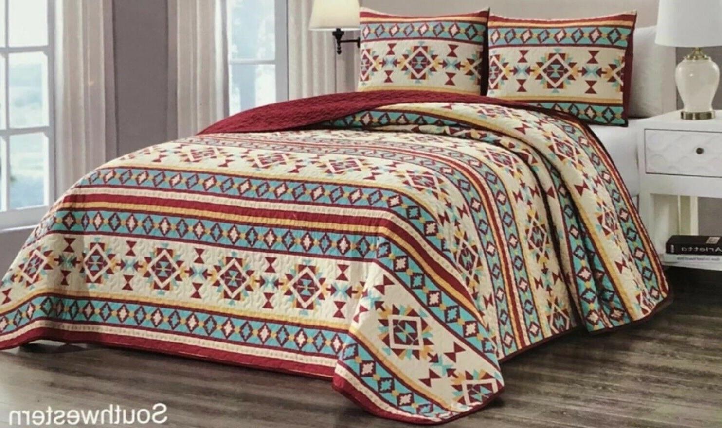 Quilt Piece Reversible Lodge Bedspread Queen Gift
