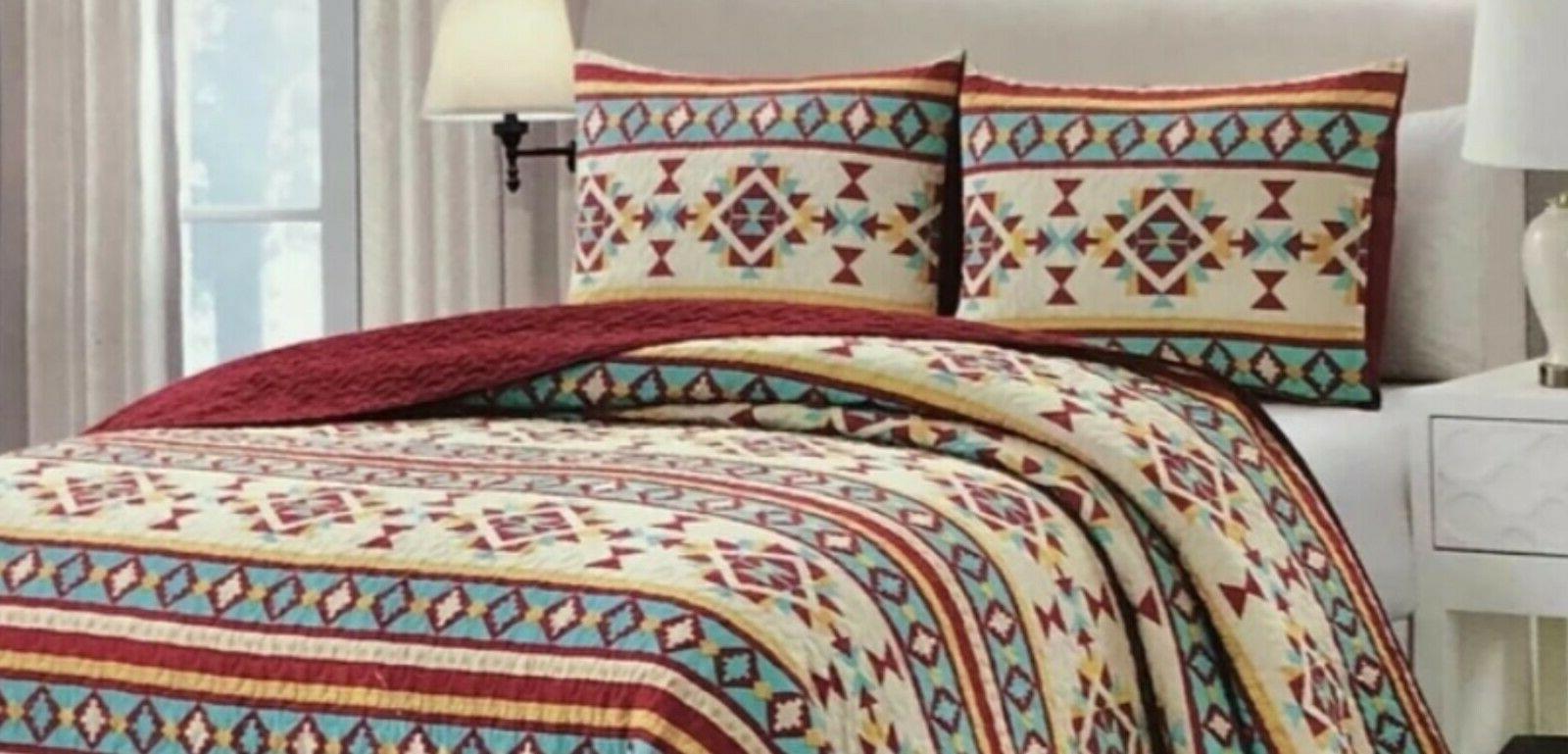 Quilt 3, Reversible Southwest Bedspread Gift