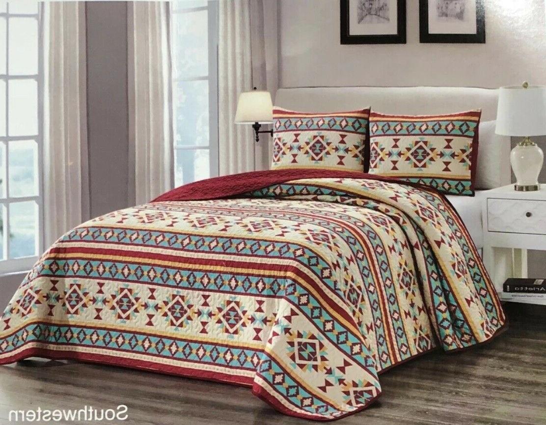 quilt 3 5 piece reversible southwest aztec
