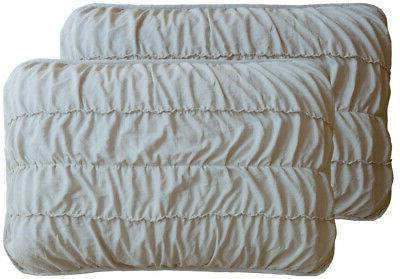 Quilt and Rouched,100% Polyester, Taupe King