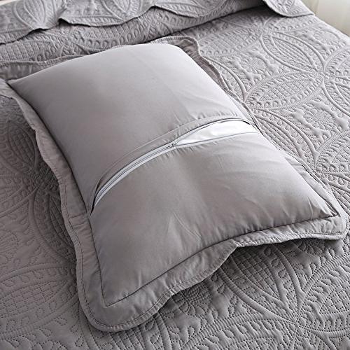 NEWLAKE Piece Quilt Bedspread Pattern,