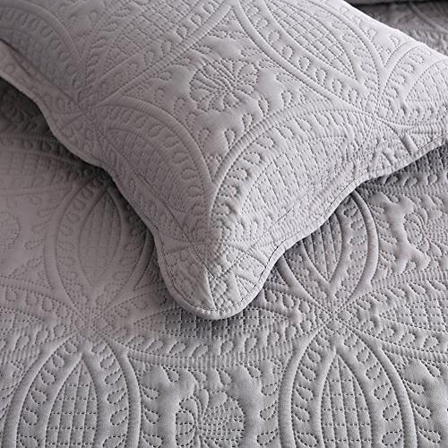 NEWLAKE 3 Piece Quilt Bedspread Coverlet Pattern, Queen Size
