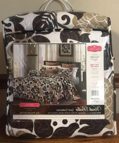 quilt collection black rose 3 pc set
