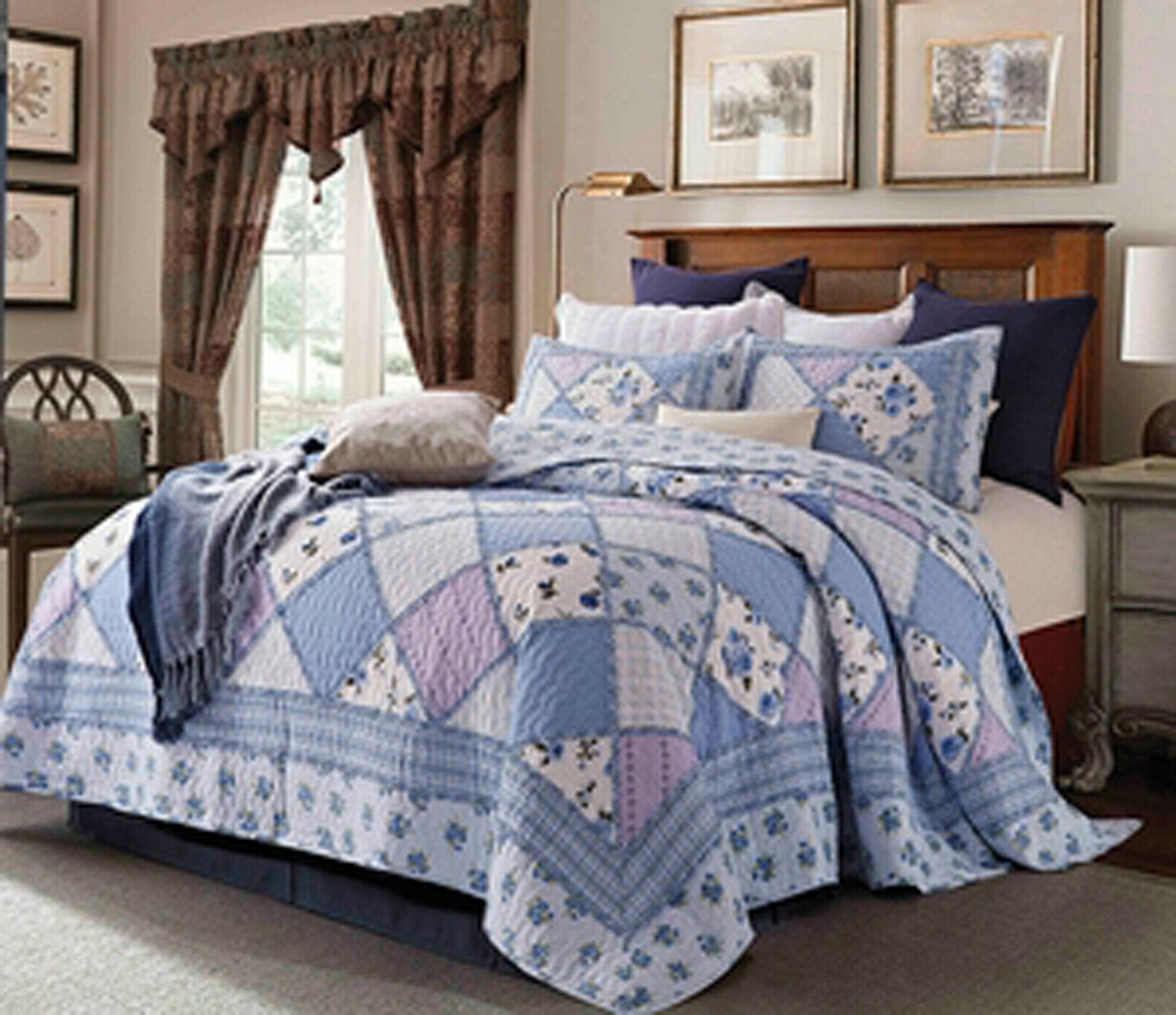 quilt collection garden of blue ensemble set
