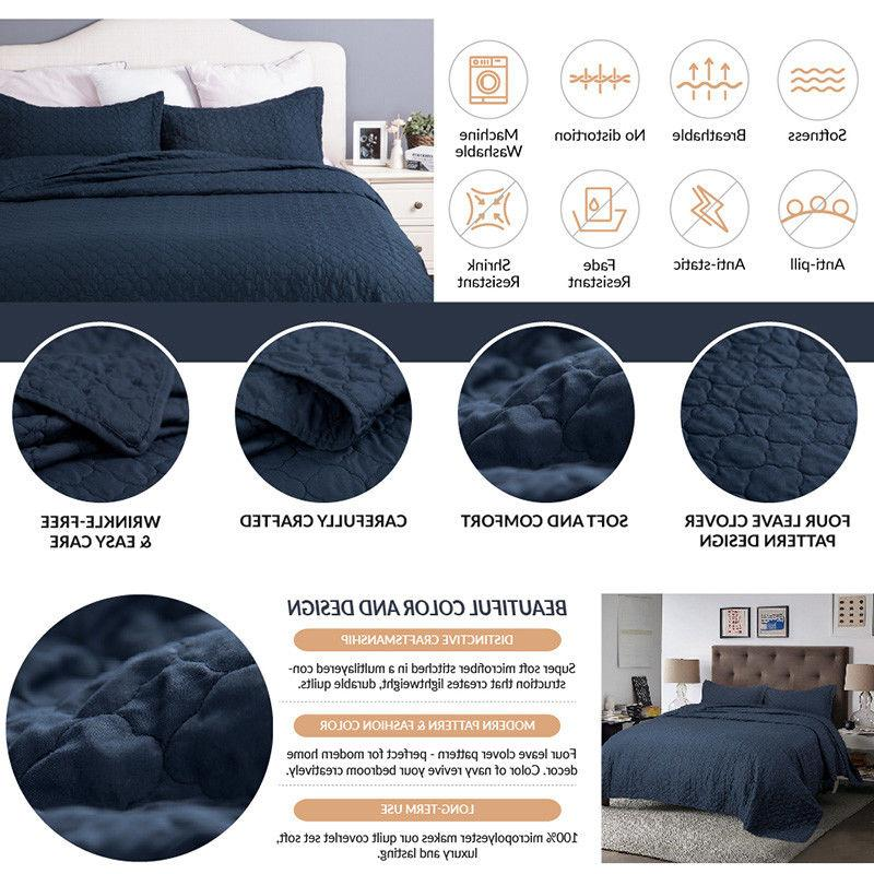 Bedsure Quilt Luxury Set Pillow Grey