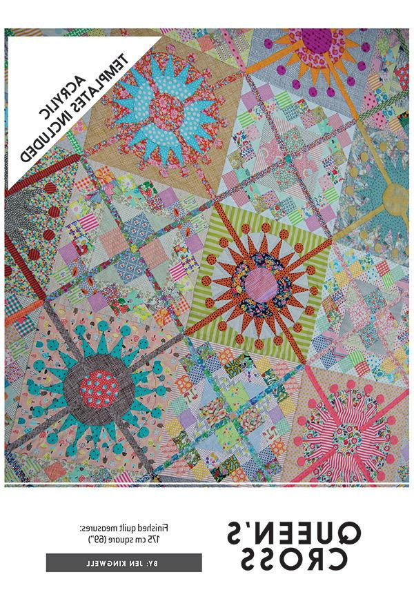 Quilt Pattern & 8 Acrylic Template Set ~ QUEENS CROSS ~ by J