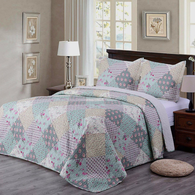 Quilt Set Brushed Microfiber Bedspread Coverlet Cover
