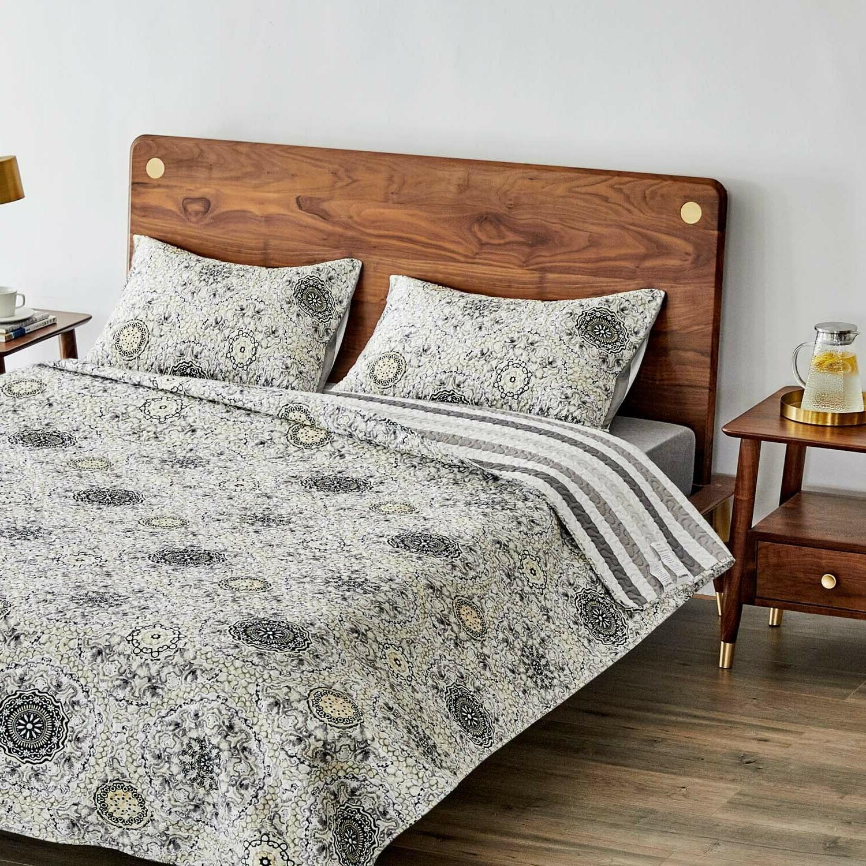 quilt set cotton bedspread soft microfiber lightweight