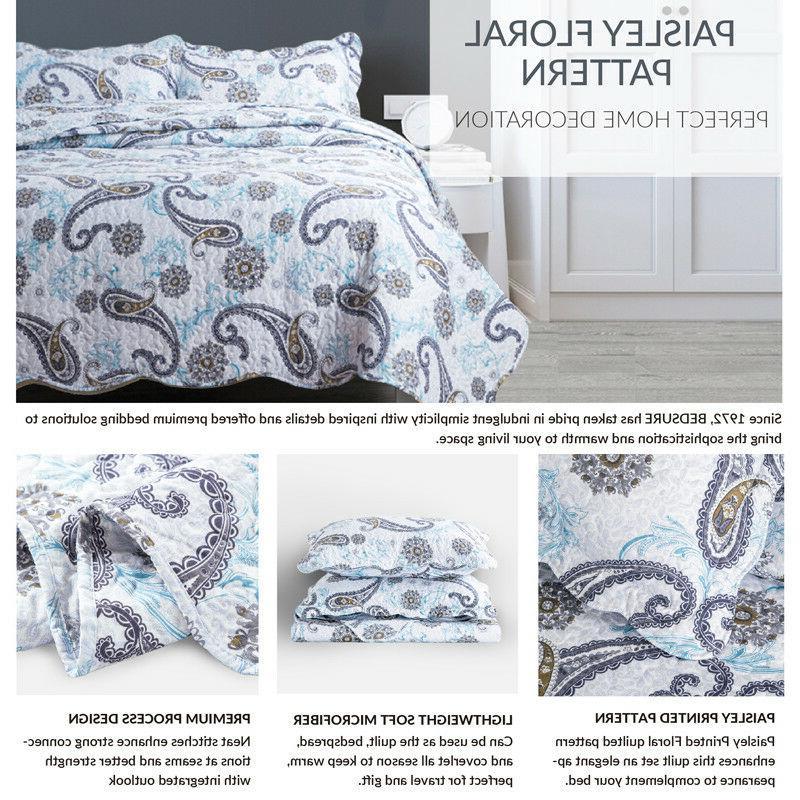 Bedsure Paisley Blue
