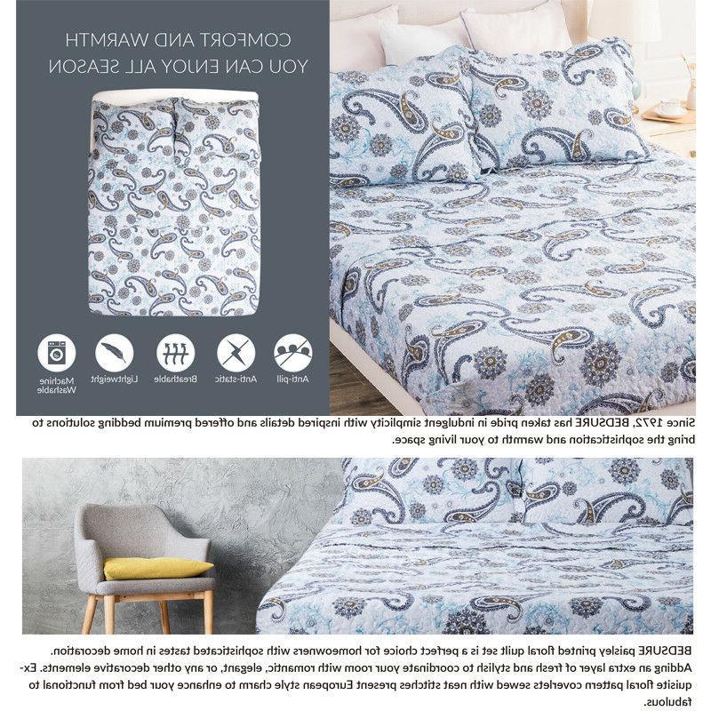 Bedsure Coverlet Paisley Pillowcase