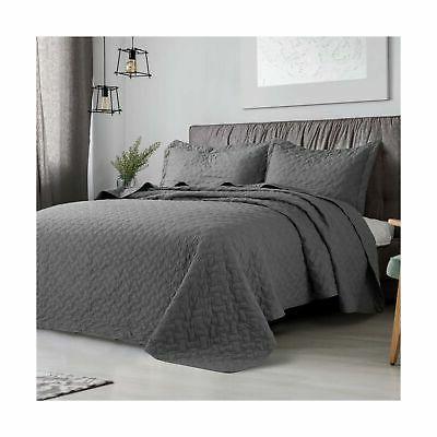 Bedsure Quilt King Size Basketweave Pattern