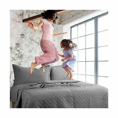 Bedsure Set King Pattern Bedspread -...