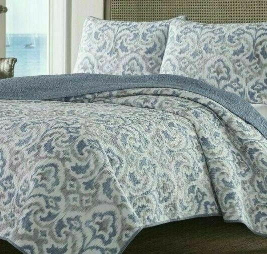 TOMMY QUILT ~ ~ CAPE VERDE ~ SMOKE ~ GREY & Reversible