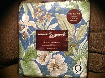 Tommy Bahama QUILT SET TWIN 2pc KEY LARGO PLACE Blue NEW Tro