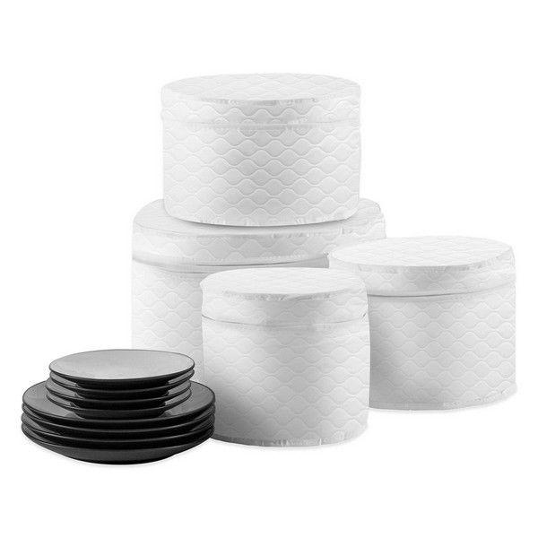 quilted 4 piece plate case set home