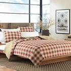 Eddie Bauer Ravenna Plaid 3 pc Reversible Quilt Set King Bed