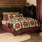 Red Poinsetta CHRISTMAS Quilt Farmhouse CHOOSE SIZE*Add acce