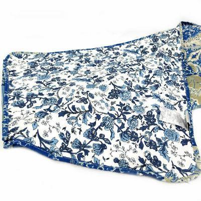 Gold Reversible Blue Floral Piece Set
