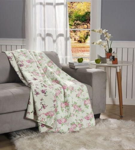 REVERSIBLE Rose Vintage Washed Quilt Set