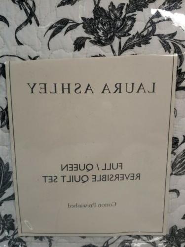 Laura Ashley Reversible Set Black, & White