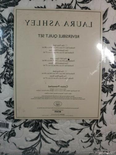 Laura Reversible Quilt Set & Full/Queen Cotton