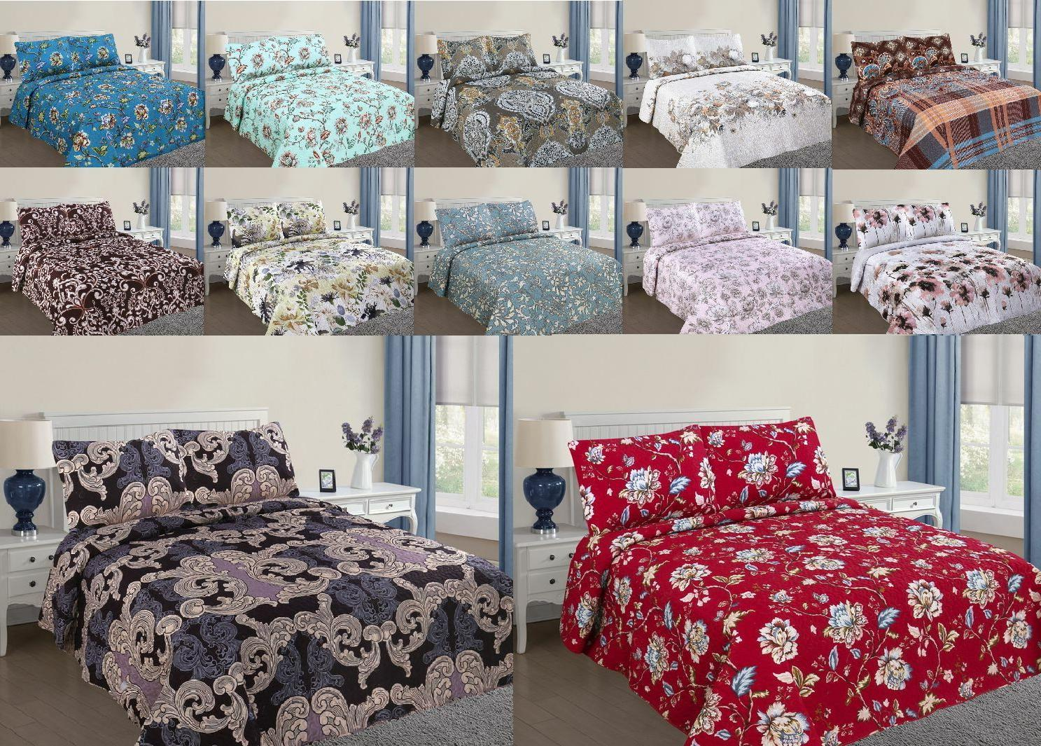 REVERSIBLE PRINTED BEDDING BEDSPREAD CASES