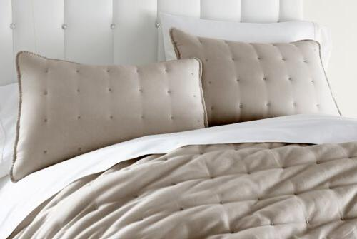 Chezmoi Collection Riley Tufted 100% Soft Cotton Quilt Set