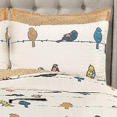 Lush Rowley Birds Piece Quilt Set, Multi