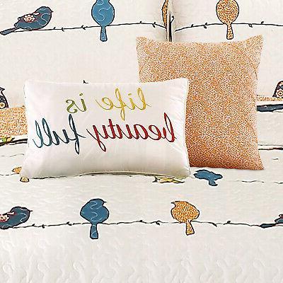 Lush Lush Décor Rowley Birds 7 Piece Quilt Set,