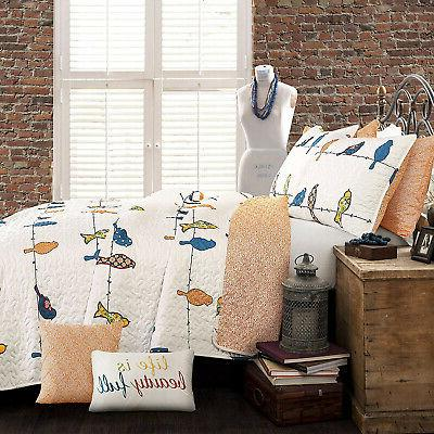 Lush Rowley 7 Piece Quilt Set, King,