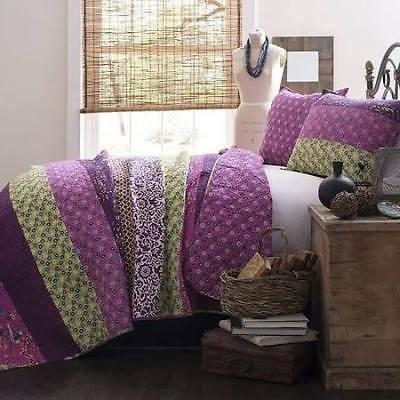 Lush Decor Royal Empire 3 Piece Quilt Set Color Plum Size: K